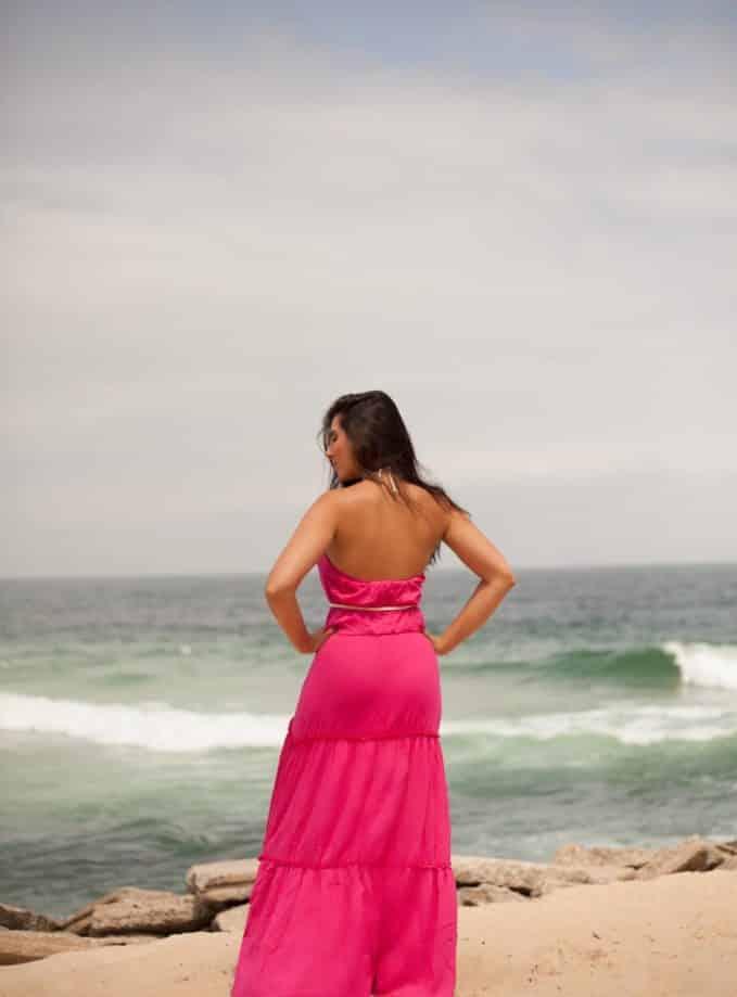 Vestido Longo Cordinha - Pink